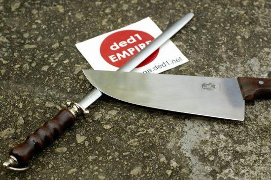 VICTORINOX - Pengasah pisau gred halus (hulu kayu)
