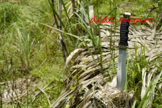 MUELA X Victorinox - pisau lasak hutan (sarung KULIT)