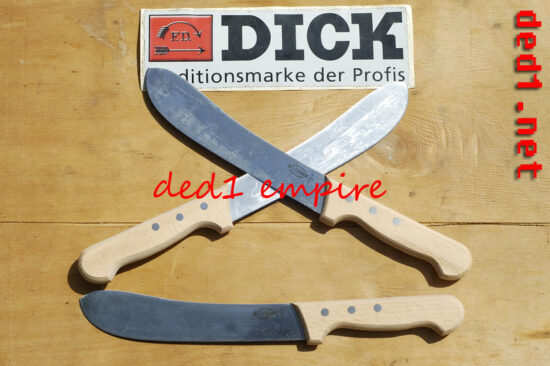 F.DICK - pisau daging/getah 7 inci HULU KAYU (JERMAN)