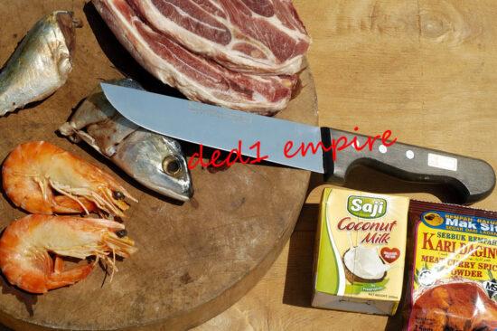 BURGVOGEL - pisau daging/sembelih lurus 7 inci (Solingen JERMAN)